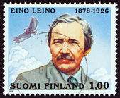 FINLAND - CIRCA 1978: A stamp printed in Finland issued for the 100th anniversary of the birth of Eino Leino shows poet Eino Leino, circa 1978. — Stock Photo