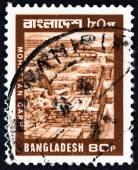 BANGLADESH - CIRCA 1978: A stamp printed in Bangladesh shows Mohastan Garh archaeological site, circa 1978. — Stock Photo