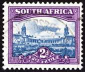 "SOUTH AFRICA - CIRCA 1950: A stamp printed in South Africa from the ""South African Architecture"" issue shows Union Buildings, Pretoria, circa 1950. — Stock Photo"