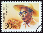"""CHINA - CIRCA 1990: A stamp printed in China from the """"Scientists """" issue shows Agriculturalist Ding Ying, circa 1990. — Fotografia Stock"""
