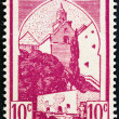 FRENCH MOROCCO - CIRCA 1939: A stamp printed in Morocco shows Mosque at Sefrou, circa 1939. — Stock Photo #73965311