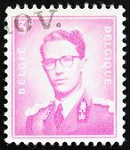 "BELGIUM - CIRCA 1958: A stamp printed in Belgium shows King Baudouin, ""Marchant"" type, circa 1958. — Stok fotoğraf"