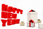 New Year gifts 3d — Stock Photo