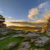 View of Dartmoor National Park from Pew Tor — Stock Photo