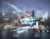 Высокий технический тип современных кнопок — Cтоковый вектор