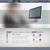 編集可能なベクトル形式のウェブサイト テンプレート — ストックベクタ