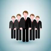 De pictogrammen van de mannen van de bedrijfs van de leider — Stockvector