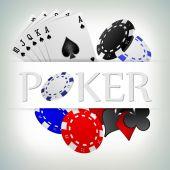 Poker gambling chips poster . — Stock Vector