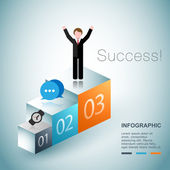 Business succes concept design — Stock Vector