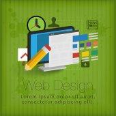 3d webdesign concept — Stock Vector
