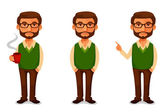 Friendly cartoon guy in casual clothes — Stock Vector