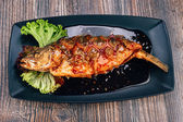 Healthy sea bass fish — Foto Stock