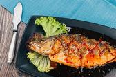 Healthy sea bass — Stock Photo