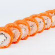 Sushi rolls with salmon fish — Stok fotoğraf #60022871