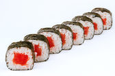 Sushi rolls with tuna fish — Stock Photo