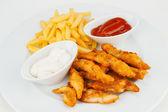 Tasty fish & chips — Stock Photo
