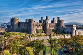 Famous Conwy Castle in Wales, United Kingdom, series of Walesh castles — Stock Photo