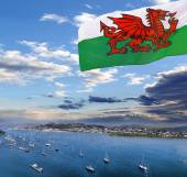 Coast of Wales with Conwy bay in United Kingdom — Stock Photo