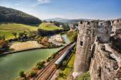 Famous Conwy Castle in Wales, United Kingdom, series of Walesh castles — Stockfoto