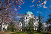St. Sava Cathedral in Belgrade, Capital city of Serbia — Stockfoto