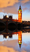 Известный Биг-Бен в Лондоне, Англия — Стоковое фото