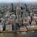 Modern London cityscape with boats, LONDON, UK — Stock Photo #63407649