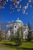 St. Sava Cathedral in Belgrade, Capital city of Serbia — ストック写真