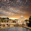 Basilica di San Pietro during spring time in Vatican, Rome, Italy — Stock Photo #67417653