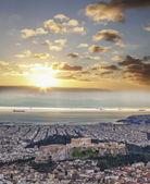 Acropolis with Parthenon temple in Athens, Greece — Stock Photo