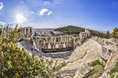 Odeon theatre in Athens, Greece, view from Acropolis — Stock Photo