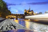Notre Dame de Paris in the evening, Paris, France — Stock fotografie