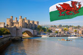 Conwy Castle in Wales, United Kingdom, series of Walesh castles — Stock Photo