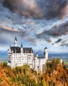 Famous Neuschwanstein castle in Bavaria, Germany — Stock Photo