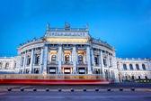 Famous palace Burgtheater in Vienna, Austria — Stock Photo