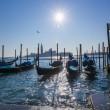 Venice with  gondolas at sunrise, Italy — Stock Photo #75312801