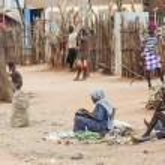Street market in small Hamer Village. Dimeka. Omo Valley. Ethiopia. — Stock Photo