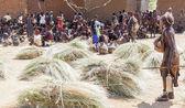 Hamar people at village market. — Stock Photo