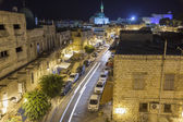 Streets of ancient city of akko at night. — Stock Photo