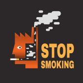 Rzucić palenie — Wektor stockowy