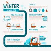 Winter Driving tips — Stock Vector
