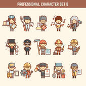 Professional character set — ストックベクタ
