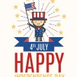 Fourth of July Independence day card — Stok Vektör #74816899