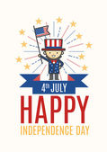 Fourth of July Independence day card — Stock Vector