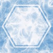 Ice hexagon — Stock Photo