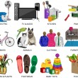 Colorful icons set for Department store — Stock Photo #58567603