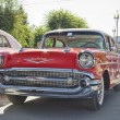 Old red Chevrolet on exhibition of vintage cars in celebration of the 425th anniversary of the city — Stock Photo #53123311