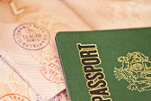 Passport page with stamps — Stock Photo