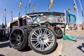 Spare wheels, rims and tires for drift — Stock Photo