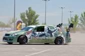 Araba takım yuvarlak-x askeri konular stilize — Stok fotoğraf
