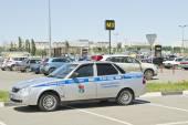 Russian patrol police car — Stock Photo